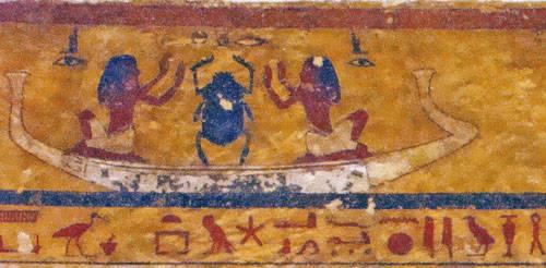 Мотивы настенных картин, связанных с темой путешествия по загробному миру.